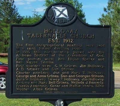 Holloway Tabernacle Church Marker image. Click for full size.