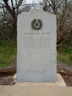 Guadalupe River Marker image. Click for full size.