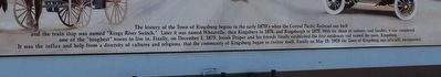 The History of the Town Kingsburg Mural Text image. Click for full size.