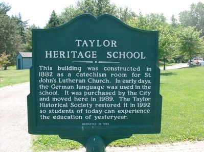 Taylor Heritage School Marker image. Click for full size.