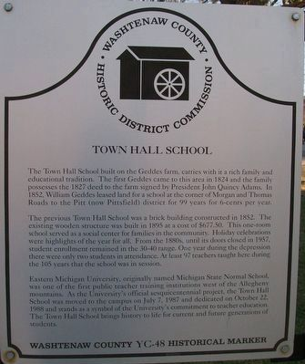 Town Hall School Marker image. Click for full size.