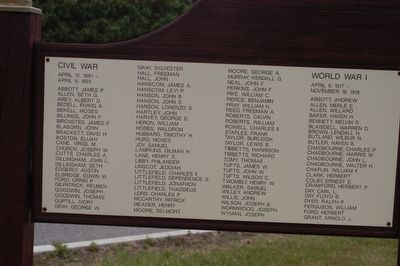 North Berwick State of Maine Veterans Memorial Marker Left Panel image. Click for full size.
