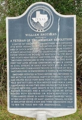 William Smothers Marker image. Click for full size.