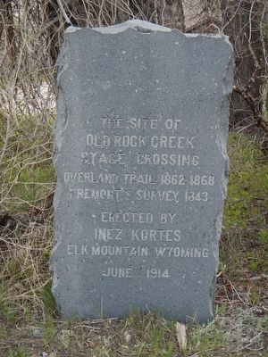 Old Rock Creek Stage Crossing Marker image. Click for full size.