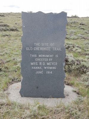 Old Cherokee Trail Marker image. Click for full size.