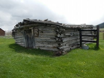 Fort Halleck blacksmith shop and Marker image. Click for full size.