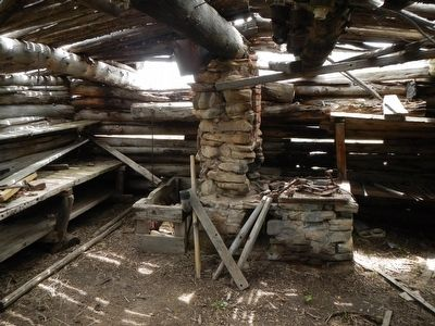 Fort Halleck blacksmith shop, interior image. Click for full size.