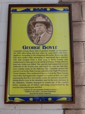 George Boyle Marker image. Click for full size.