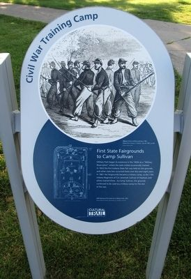 First State Fairgrounds to Camp Sullivan Marker image. Click for full size.