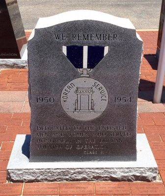 Korean Service Memorial & Medal (Front) image. Click for full size.