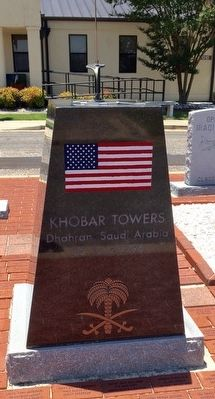Khobar Towers Memorial (Front) image. Click for full size.