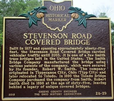 Stevenson Road Covered Bridge Marker image. Click for full size.