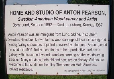 Home and Studio of Anton Pearson Marker image. Click for full size.