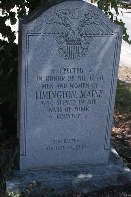 Limington Maine Veterans Memorial Marker image. Click for full size.