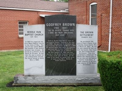 Godfrey Brown Marker image. Click for full size.