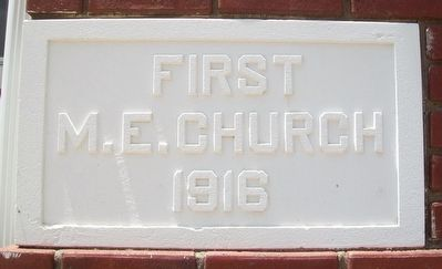 Geneseo United Methodist Church Cornerstone image. Click for full size.