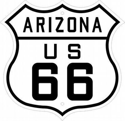 U.S. Route Shield for Route 66 Used from 1926 to 1948 image. Click for full size.