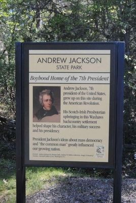 Andrew Jackson State Park Marker image. Click for full size.