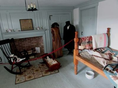 Bedroom in the Cannonball House image. Click for full size.