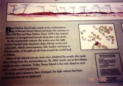 Bass Harbor Head Light Marker image. Click for full size.