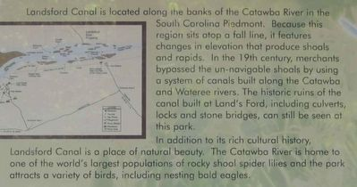 Welcome to Landsford Canal State Park Marker image. Click for full size.