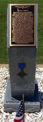 Award of Air Force Cross to Dustin H. Temple Marker image. Click for full size.