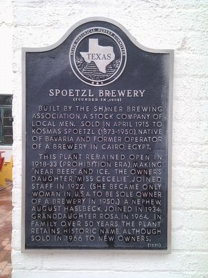 Spoetzl Brewery Marker image. Click for full size.