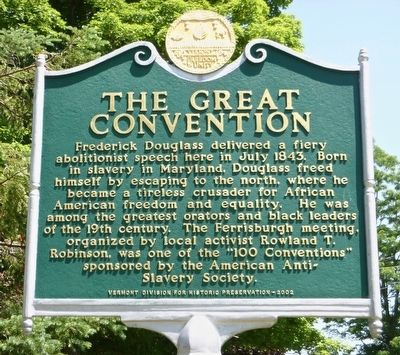 The Great Convention Marker image. Click for full size.