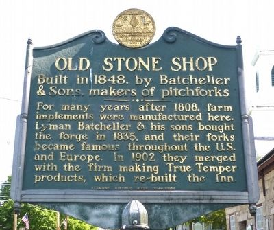 Old Stone Shop Marker image. Click for full size.