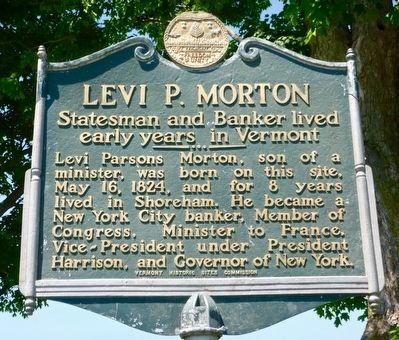 Levi P. Morton Marker image. Click for full size.