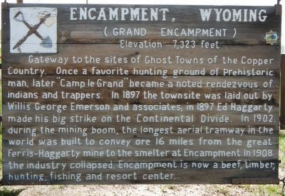 Encampment, Wyoming Marker image. Click for full size.