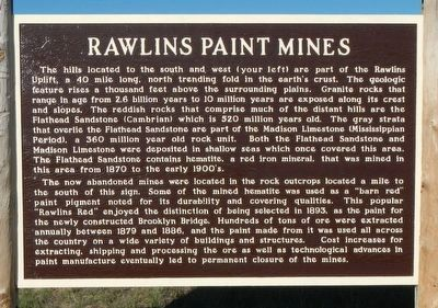 Rawlins Paint Mines Marker image. Click for full size.
