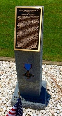 Award of Air Force Cross to Timothy A. Wilkinson Marker image. Click for full size.