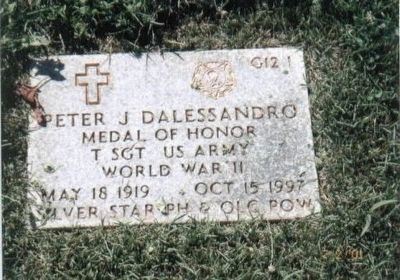 Sgt Peter J. Dalessondro Grave Marker image. Click for full size.