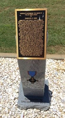 Award of Air Force Cross to Charles D. King Marker image. Click for full size.