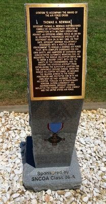 Award of Air Force Cross to Thomas A. Newman Marker image. Click for full size.