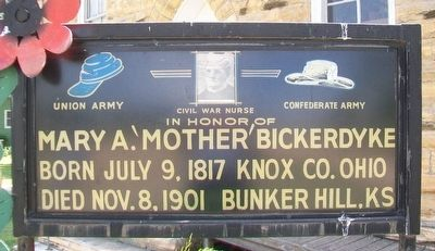 "Mary Ann ""Mother"" Bickerdyke Marker image. Click for full size."