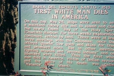 First White Man Dies in America Marker image. Click for full size.