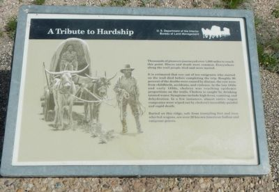 A Tribute to Hardship Marker image. Click for full size.