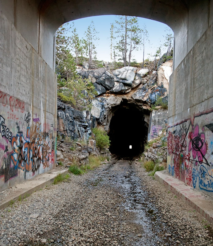 West Entrance to Great Summit Tunnel of the Sierra Nevada
