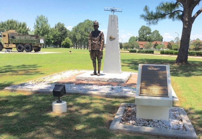 Sergeant Pilots statue and marker. image. Click for full size.