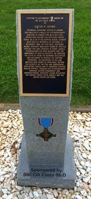 Award of Air Force Cross to Victor R. Adams Marker image. Click for full size.
