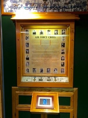 AF Cross exhibit in nearby Enlisted Heritage Hall. image. Click for full size.