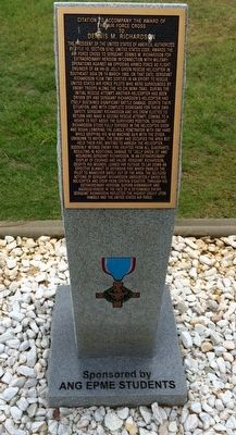 Award of Air Force Cross to Dennis M. Richardson Marker image. Click for full size.