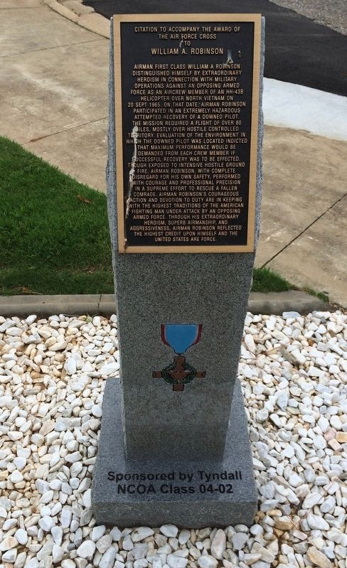 Award of Air Force Cross to William A. Robinson Marker image. Click for full size.