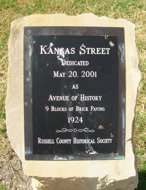 Kansas Street Marker image. Click for full size.