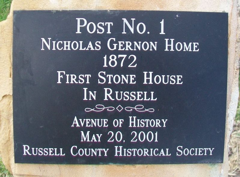 Nicholas Gernon Home Marker image. Click for full size.