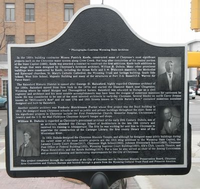 Cheyenne Builders and Architects Marker, reverse image. Click for full size.
