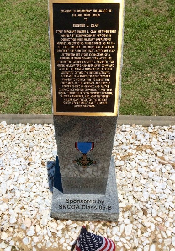 Award of Air Force Cross to Eugene L. Clay Marker image. Click for full size.