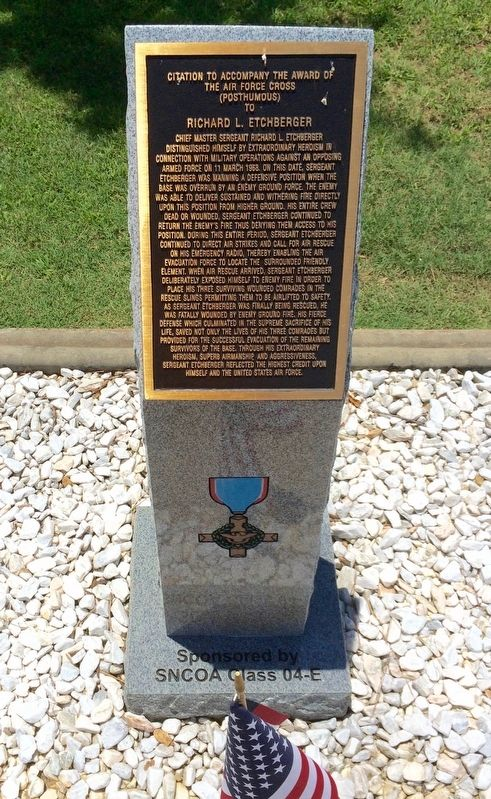Award of Air Force Cross to Richard L. Etchberger Marker image. Click for full size.
